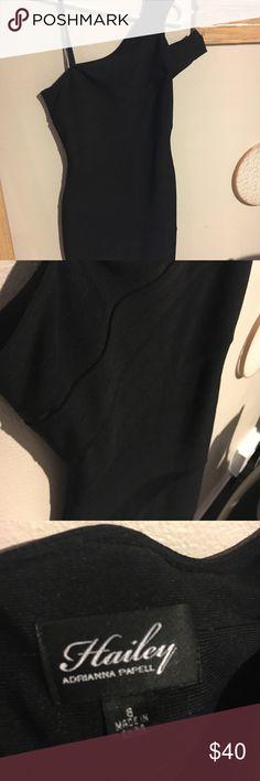 Little black dress Davids Bridal Brand New- never worn Of the shoulder one sleeve dress Stretchy material  Figure flattering Above knee David's Bridal Dresses One Shoulder