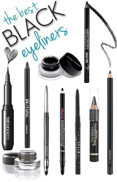 The BEST Black Eyeliners // One that I MUST add and one I swear by: L'oréal's Infallible Blackbuster. I recommend it to first-time liner clients because it's so easy to use! You can p(Best Eyeliner Gel) Love Makeup, Makeup Tips, Makeup Looks, Makeup Stuff, Makeup Ideas, All Things Beauty, Beauty Make Up, Hair Beauty, Beauty Secrets
