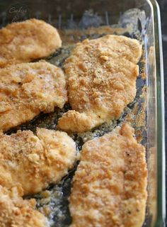oven fried chicken. I marinate it in buttermilk first. Then add bisquick, dry ranch dressing mix, and crushed Ritz to the dredging mixture. Then of course top it with butter.