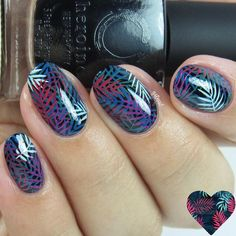 """777 Likes, 4 Comments - UberChic Beauty (@uberchicbeauty) on Instagram: """"Chic nails  stamped using a pattern off of our just launched Lovely Leaves-02 plate! @gotnail saw…"""""""