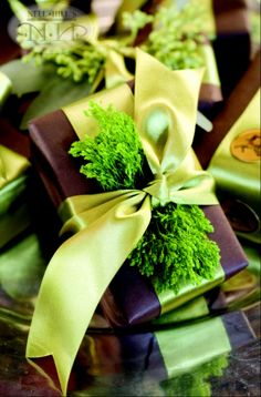 Tuck a little evergreen under your bow.