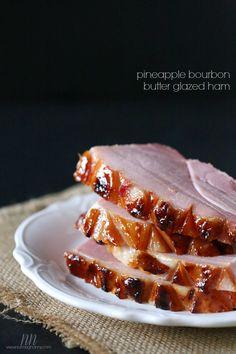 Pineapple Bourbon Butter Glazed Ham by Nutmeg Nanny