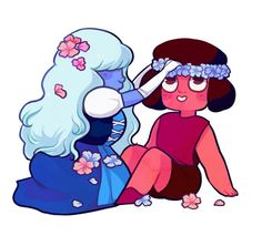 Ruby and Sapphire <3 <3 SU
