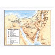 The Route of the Exodus--Wall Map   -