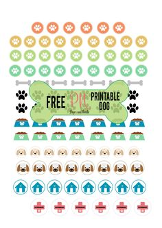 FREE PRINTABLE DOG - Adesivi a tema cane free printable stickers dog planner scrapbookink organization craft tutorial Free Planner, Happy Planner, Planner Ideas, Printable Planner Stickers, Free Printables, Freebies, Planner Decorating, Planner Organization, Organizing