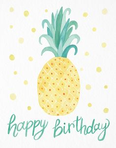Pineapple card by Leveret Paperie on Postable.com