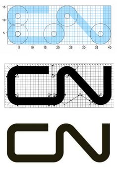 The timeless CN mark was designed by Allan Flemming in 1959. The story goes that Fleming came up with the design while traveling on a New York-bound airplane, where he sketched the idea on a cocktail napkin. Graham Smith put together a great write-up on the history of the logo, with some links to more resourceful information.
