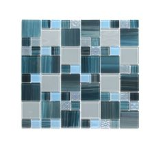 Aqua Glass Stone Mix Mosaic - T0027187: Aqua Glass Stone Mix Mosaic 300x300mm Aqua Glass, Aqua Blue, Bathrooms, Mosaic, Tile, Africa, Company Logo, Mosaics, Bathroom
