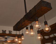 Ceiling Light Pendant Lighting Wood Light by WestNinthVintage