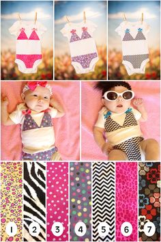 SEWcial Butterflies: Baby Onesie Bikinis - I think the babies dressed in these are totally adorable.