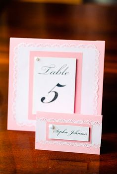 rose table numbers wedding table number tented by galadaydesigns - Custom Place Cards
