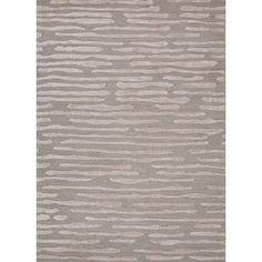 Hand-tufted Modern Geometric Wool/ Silk Rug (8 x 11)
