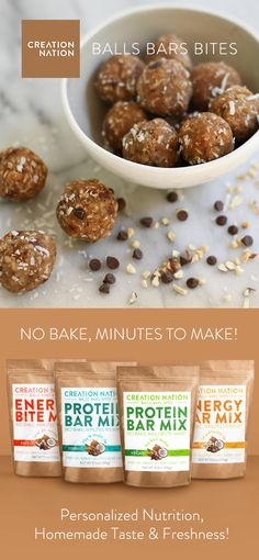 Quick & Easy No-Bake Protein Balls & Energy Bites! So delicious & healthlicious! Organic superfoods, high protein, gluten-free, paleo, vegan, homemade freshness! Countless creative recipes...