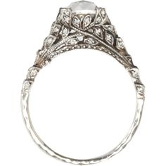 Cathy Waterman Diamond Secret Door Ring, $26,670 Sold out barneys.com Platinum secret door ring set with diamond in center and pave diamond leaf detail on sides.