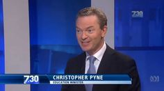 """Christopher Pyne rejects saying the word """"C*NT"""" on national television, states the word was """"grub"""" #auspol"""