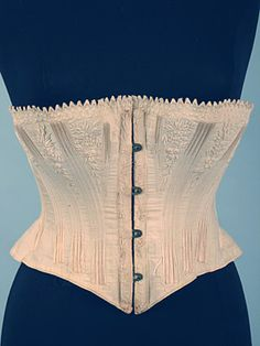 Embroidered Cotton Corset, 1860s