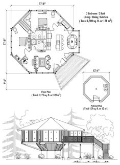 Pedestal Collection PD-0424 (1300 sq. ft.) 2 Bedrooms, 2 Baths