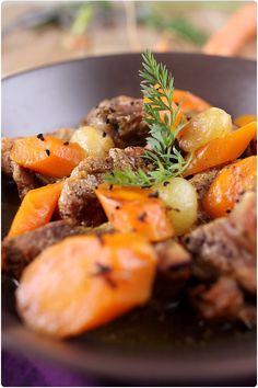 Sauté de porc au miel, carottes et ras el hanout