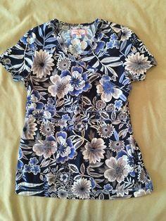 Stylish Scrubs, Koi Scrubs, Scrub Tops, Floral, Modern, Blue, Clothes, Style, Fashion