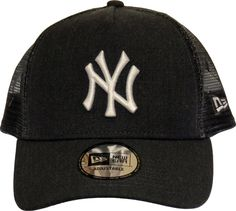 NY Yankees New Era MLB Heather Graphite Trucker Cap Yankees De Nueva York 5ee454204e7