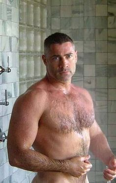 Want Hairy men in the shower