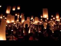 World Peace Through Inner Peace <3 Simultaneous sky lantern release 2013 ...<3