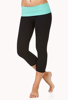 Danskin Now - Women's Plus-Size Foldover Waist Fashion Yoga Capri ...