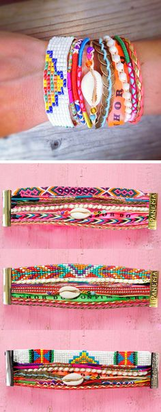 DIY idea - wanna try this (use ankle bracelets that I have collected from my tropical travels)