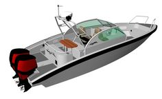 Marell 850wa Aluminum Boat, Yamaha, Cabin, Model, Cabins, Scale Model, Cottage, Wooden Houses