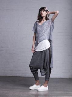ART DEPT. Clothing Gray Drop Crotch Harem Pants Apiece Apart La Garconne- XS   eBay