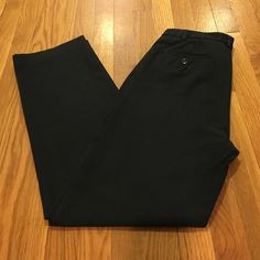 BR black pants Stretchy black pants from Banana Republic. These used to be a favorite, but don't fit anymore. High waist, tab front, zip fly, rear pockets. Waist is ~30 inches and inseam is ~29.5 inches. Banana Republic Pants
