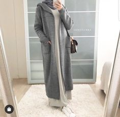 How To Wear Oversized Long Cardigans With Hijab Outfits – Zahrah Rose - Hijab fashion Modest Outfits Muslim, Modest Fashion Hijab, Modern Hijab Fashion, Casual Hijab Outfit, Hijab Fashion Inspiration, Muslim Fashion, Mode Inspiration, Hijab Wear, Ootd Hijab