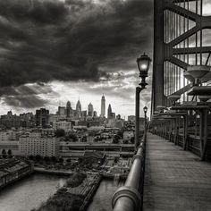 Philadelphia from the Ben Franklin bridge