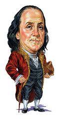 Celebrity Caricatures - Art - Benjamin Franklin  by Art