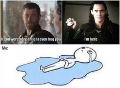 But then he practically tazed him instead. Thor X Loki, Loki Avengers, Who Made Who, Thor Ragnarok Movie, Marvel Memes, Marvel Dc Comics, Marvel Funny, Infinity War, Superheroes
