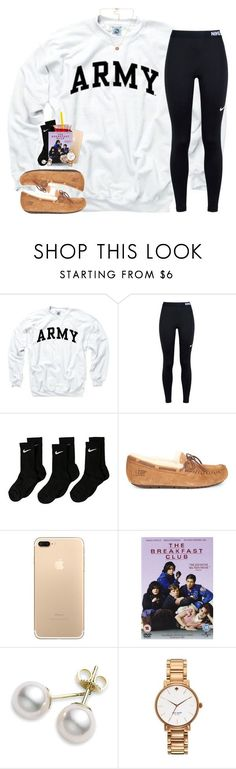 """I'm ready for the weekend!"" by sassysouthernprep99 ❤ liked on Polyvore featuring NIKE, UGG, Mikimoto, Kate Spade and Pieces Check our selection UGG articles in our shop!"