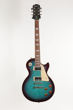 Second Hand Epiphone Les Paul Standard Pro 2019 Blueberry Burst - Andertons Music Co. Epiphone Les Paul, Les Paul Guitars, Les Paul Standard, Two Hands, Blueberry, Posters, Music, Products, Guitars