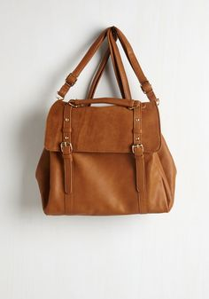 Stop, Rock, and Roll Convertible Bag in Cognac. Can we all pause for a moment to appreciate the utter awesomeness of this rocker-chic bag? #brown #modcloth