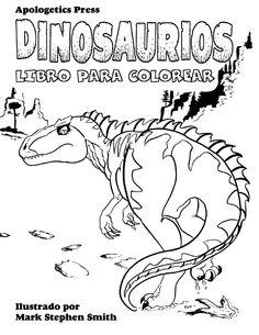 Infantil y Primaria: Dinosaurios libro para colorear