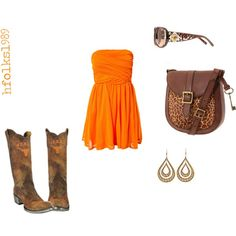 This dress would be super cute with Clemson boots for tailgating/game days...