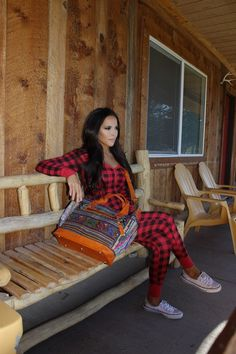 WARM FOR THOSE CHILLY FALL & WINTER DAYS. LOVE THIS OUTFIT. ALL PLAID.