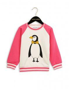 Mini Rodini Penguin Sweatshirt | Pink