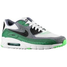 the best attitude 8bfff 54c36 Nike Air Max 90 Breeze - Men s - White Black Cool Grey Pine Green