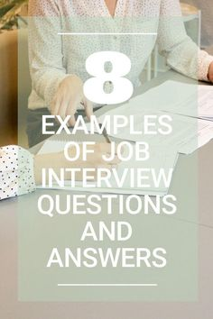 10 examples of interview questions and answers so that you can be prepared for your next interview.  Post College Survival Guide  #interviewquestions #topinterviewquestions #gettingajob