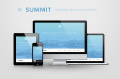This is actually a free item on Creative Market today! Summit - one page responsive theme by WebDesignCrowd on Creative Market Website Design Inspiration, Website Design Layout, Web Business, Business Brochure, Start Up Business, Steps Web, Creative Market Free, Responsive Template, Change Maker