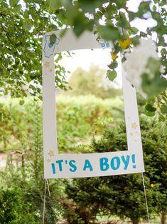 Baby Shower – garden party w klimacie boho Polaroid Frame, Frame It, Photo Booth, Baby Shower, Letters, Boys, Party, Instagram, Design