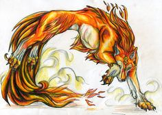 Wolves Of The Beyond Site | wolf god. He was the first wolf with the element of fire. Every wolf ...