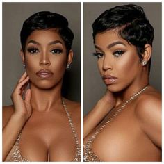 These short black hairstyles really are stylish. These short black hairstyles really are stylish. Halle Berry Short Hair, Short Sassy Hair, Short Hair Cuts, Pixie Cuts, Short Styles, Medium Hair Styles, Curly Hair Styles, Natural Hair Styles, Hair Medium