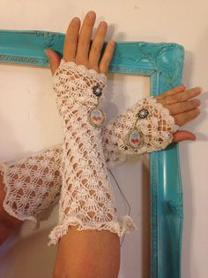 Upcycled recycled arm warmers