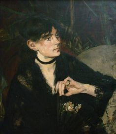 """Edouard Manet, Portrait of Berthe Morisot with a Fan, 1874, o.c., Musee D""""Orsay…"""